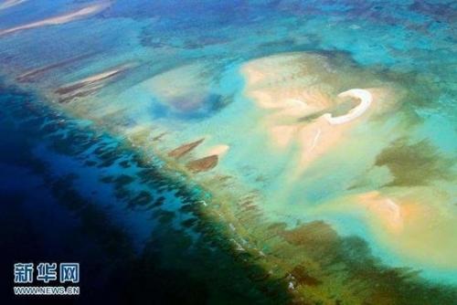 西沙群岛,位于南海的西北部