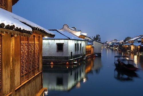 丽江风景刻纸图片